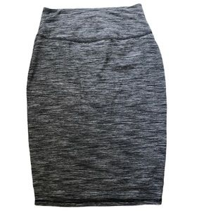 Athleta High Rise Pencil Skirt Space Dyed Gray
